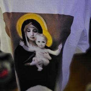 NWOT BLVCK SCVLE Madonna Baby Jesus Tee RARE